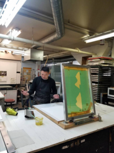The Malaspina Printers Society provides space for artists like Juan to do their work.